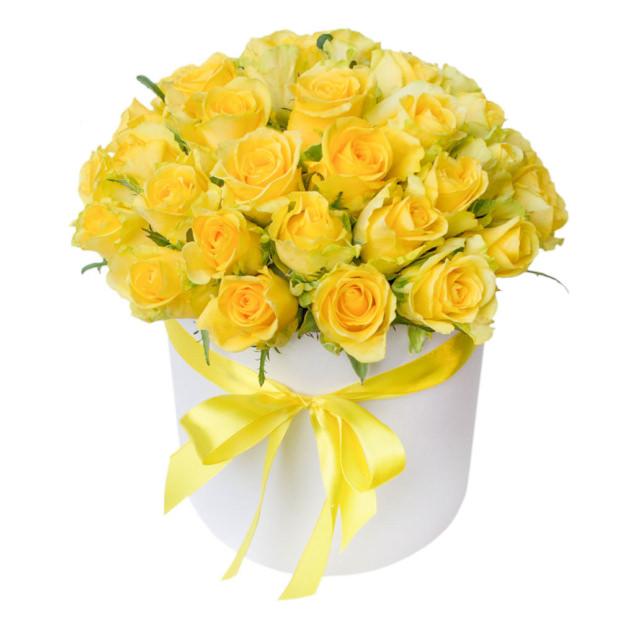 """Цветы в коробке """"Желтые Розы"""""""