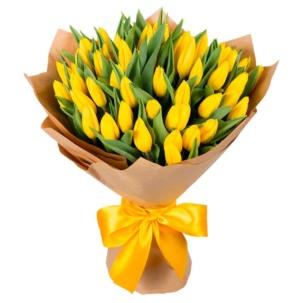 Тюльпаны желтые