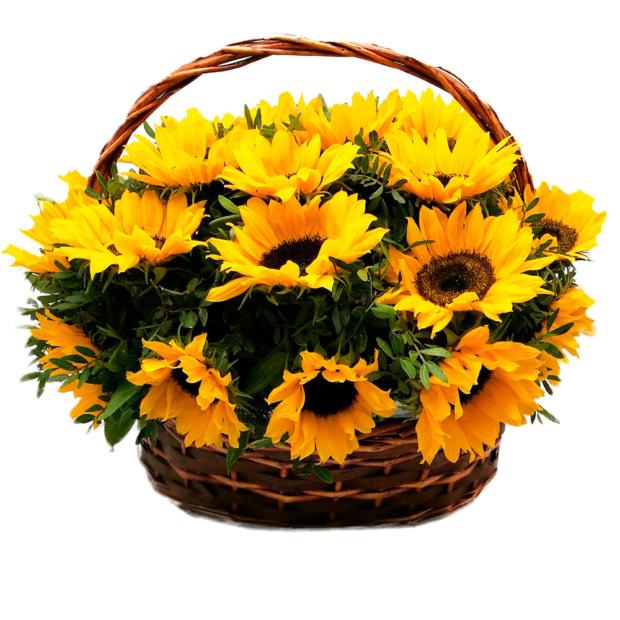 """Корзина с цветами """"Луч солнца"""""""