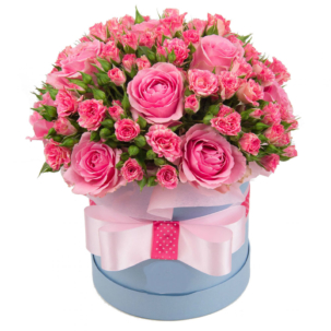 """Цветы в коробке """"Барби"""""""