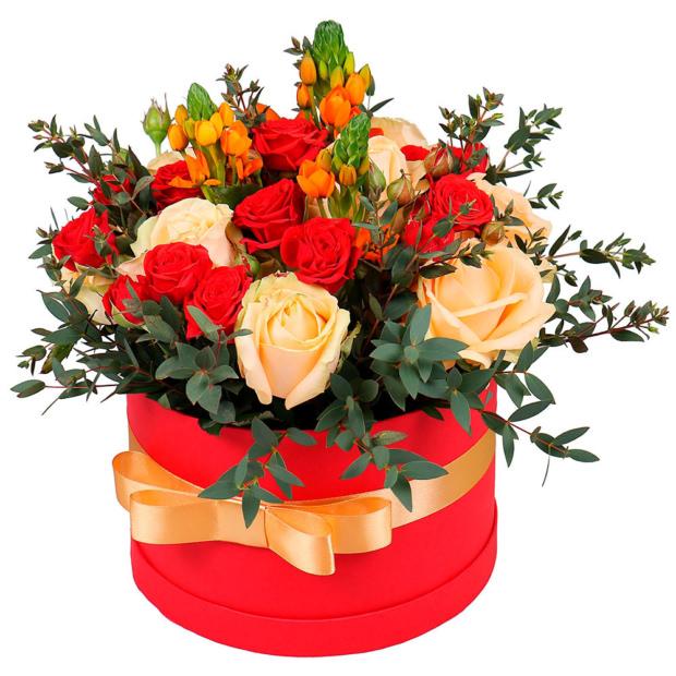 """Цветы в коробке """"Стрела амура"""""""
