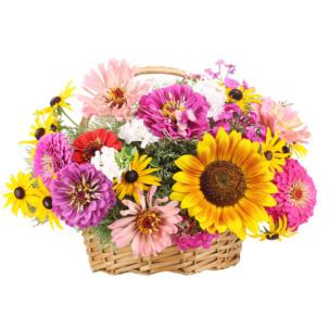 """Цветы в корзинке """"Дары природы"""""""