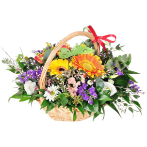 """Цветы в корзинке """"Радуга"""""""