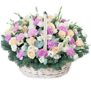 """Цветы в корзинке """"Свидание"""""""
