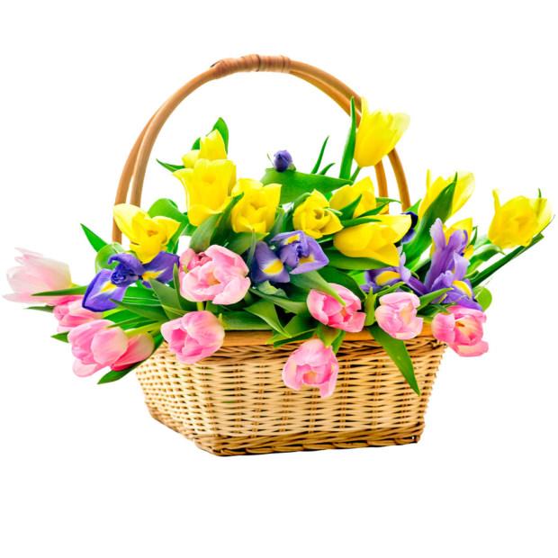 """Цветы в корзинке """"Вдохновение"""""""